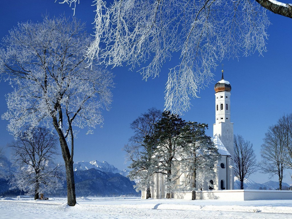St_Colomans_Church_In_Winter_Schwangau_Bavaria_Germany